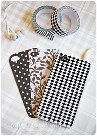 Washi tape iPhone covers