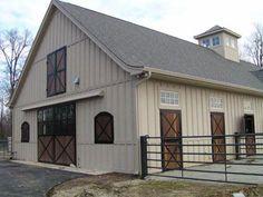 metal barn homes 15 ideas for metal barn door horse stalls Metal Horse Barns, Horse Barn Plans, Metal Barn, Metal Roof, Metal Trim, Barn Shop, Barn Siding, Vinyl Siding, Barn Renovation