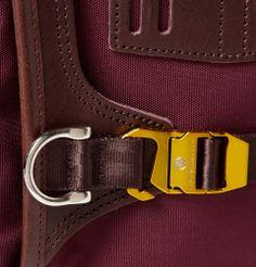 Master-Piece - Potential Leather-Trimmed Cordura Backpack MR PORTER