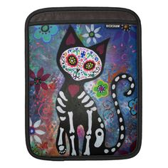 DAY OF THE DEAD cat IPAD SLEEVE Ipad Sleeve, Front Bottoms, Shopping Day, Ipad Air 2, Dog Bowtie, Day Of The Dead, Apple Ipad, Cover Design, Create Yourself