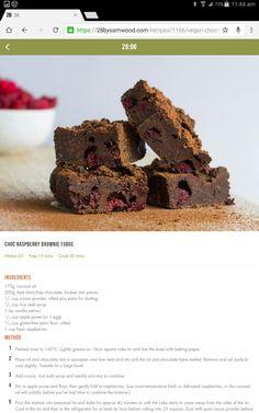 Brownie Healthy Treats, Healthy Slices, Healthy Recipes, Healthy Eating, Yummy Snacks, Yummy Treats, Yummy Food, 28 By Sam Wood, Healthy Food Alternatives