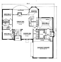 First Floor Plan of European   House Plan 79035