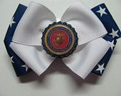 US Marine Corps Hair Bow ..love