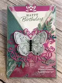 Criss Cross Fancy Fold - Create Something Beautiful! Fun Fold Cards, Folded Cards, Happy Birthday Susan, Better Day, Butterfly Cards, Something Beautiful, Criss Cross, Stampin Up, Birthday Cards