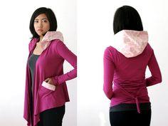SALE Organic Yoga Wrap Honeycomb Pink Orchid Purple by Kulayan