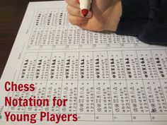 Chess Notation Printable for Young Chess Players- Great for kids who are new writers!