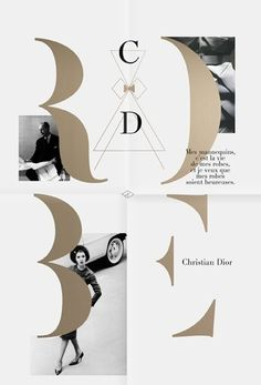 I like this Christian Dior layout. Simple but nice