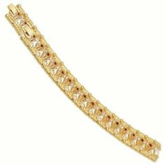 Gold-plated Swarovski Crystal Red Bridge 7In with 1In ext Bracelet - Jacqueline Kennedy Jewelry Goldenmine. $160.00