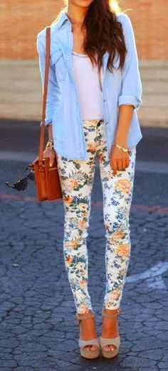 Floral + Chambray