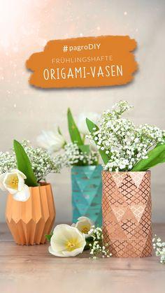 Diy Origami, Vase, Place Cards, Place Card Holders, Creative Ideas, Do Crafts, Jars, Vases, Jar