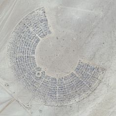 Black Rock City During Burning Man 2012  Via Sat Photo