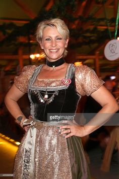 Claudia Jung attends the 'GoldStar TV Wiesn' during Oktoberfest at Weinzelt, Theresienwiese on September 23, 2014 in Munich, Germany.