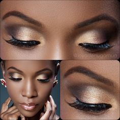 Start with Mac paint pot in constructivist as a base. Using Lorac Pro palette, apply the gold shade in the inner corner of the eye Pat on LT bronze from the same palette on the middle of the eye. outer corner using a pointed crease brush, apply Espresso from same palette blending towards the inner crease, Line the eyes with Mac Black track gel liner, Ardell 120 lashes and a coat of mascara, Mac lipliner in Chestnut, lipstick in Touch and Peachstock lightly dabbed in the middle of the lip