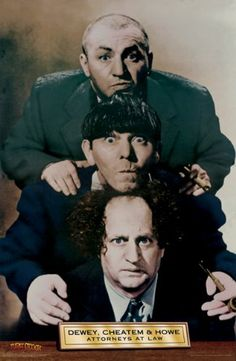 3 THREE STOOGES     #3478     RP64 Q COMICAL LOT OF 2 POSTERS JUST SAY MOE