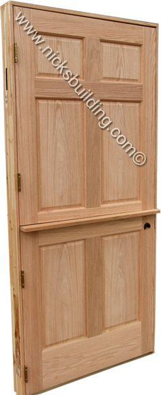 Dutch wood door- bought at www.nicksbuilding.com  #exteriordutchdoors #woodenfrontdoors #rusticexteriordoors 6 Panel Doors, Oak Doors, Oak Interior Doors, Interior And Exterior, Doors Online, Wooden Front Doors, Dutch Door, Decorative Trim, Contemporary Interior Design