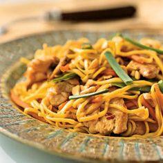 Superfast Chicken Recipes | Chicken-Peanut Chow Mein | CookingLight.com