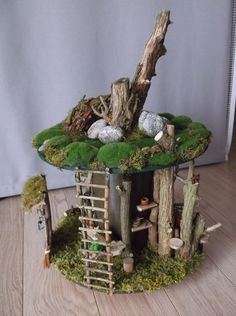 Fairy Crafts, Garden Crafts, Fairy Garden Houses, Fairy Tree Houses, Fairy Village, Fairy Garden Accessories, Fairy Doors, Flower Fairies, Miniature Fairy Gardens