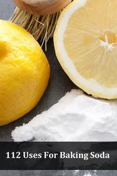 112 Uses For Baking Soda: eg.to make fluffier, add ½ teaspoon of baking soda to three eggs.  to exfoliate skin, make a paste using 3 parts baking soda and on part water. Gently apply with your fingers using a circular motion, rinse