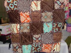 Rag Quilt - love the colors in this