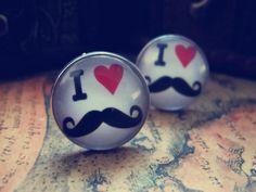 I Love Mustache Cufflinks
