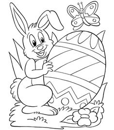 happy easter bunny egg coloring pages Easter Coloring Sheets, Easter Bunny Colouring, Christmas Coloring Pages, Coloring Pages For Kids, Coloring Pages To Print, Free Printable Coloring Pages, Colouring Pages, Coloring Books, Egg Coloring