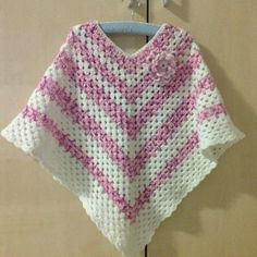 Crochet poncho girl,size 6-8 year by Livianahandmade on Etsy