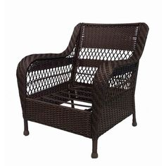 Shop Garden Treasures Glenlee Textured Brown Steel Strap Seat Patio Chair at Lowes.com