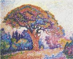 Advanced Embroidery Designs - The Pine, St. Tropez by Paul Signac