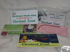 5 Vintage 1932 Ink Blotter The Cleveland Trust Company  Banking Savings & Loan #TheClevelandTrust