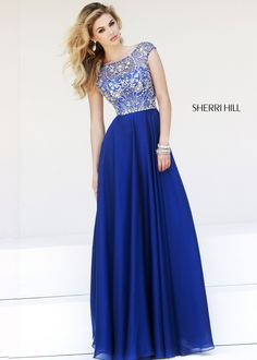 Sherri Hill 32017 Beaded Chiffon Gown #CrushingOnRissyRoos