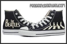 The Beatles Custom Converse / Painted Shoes by FeslegenDesign, $65.00. Sonia u need these!