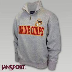 US Marine Corp 1/4 Zip Pullover Sweatshirt | ArmedForcesGear.com