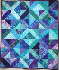 KIT- Ten Pack Contains all fabric for 51 x quilt top and binding. Batik Quilts, Scrappy Quilts, Easy Quilts, Purple Quilts, Colorful Quilts, Quilting Projects, Quilting Designs, Quilting Ideas, Nancy Zieman