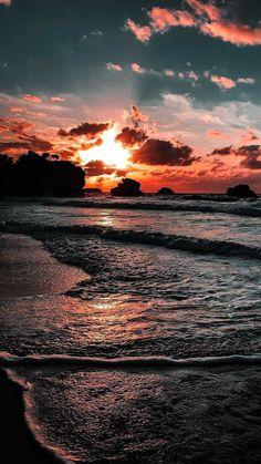 - Beach Sunset – – Beach Sunset – … – Sonnenuntergang am Strand - Beach Sunset Wallpaper, Ocean Wallpaper, Summer Wallpaper, Cute Wallpaper Backgrounds, Pretty Wallpapers, Sunset Beach, Beach Sunsets, Summer Sunset, Mobile Wallpaper