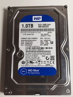 "WESTERN DIGITAL BLUE WD10EZEX 1TB INTERNAL HDD 7200RPM 3.5"" HARD DISK DRIVE #WesternDigital"