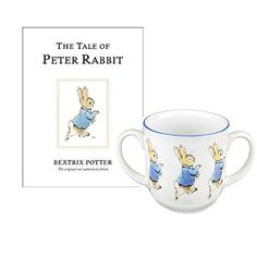 Peter Rabbit Beatrix Potter Baby Gifts Two Handled Mug and Childrens Book The Tales of Peter Rabbit * Visit the image link more details.
