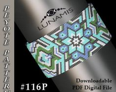 Peyote bracelet pattern, odd count, peyote pattern, stitch pattern, pdf file, pdf pattern, #116P