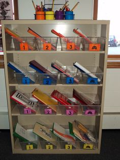 Assign each student a color or symbol and set up individualized task boxes.