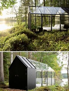 Although originally designed by Ville Hara  and Linda Bergroth  as a hybrid greenhouse and shed - awesome, by the way - Linda took the arc...