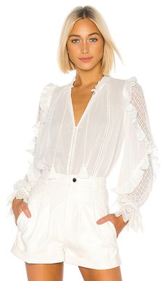 Shop for Ulla Johnson Shirley Blouse in Pristine at REVOLVE. Fashion Line, Pop Fashion, Modest Fashion, Girl Fashion, What Women Want, Ulla Johnson, Revolve Clothing, Style Guides, Clothes For Women