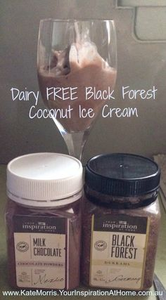 Dairy FREE Ice Cream made with 1 tin of chilled Coconut cream, 1 tablespoon of 'Your Inspiration At Home Milk Chocolate Powder' and 1 tablespoon 'Your Inspiration At Home Black Forest Dukkah'. Mix ingredients and place in an Ice Cream Maker and Voila! Delicous Dairy FREE Ice cream!