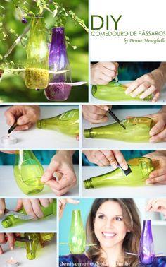 Pluii - DIY Decoração: Embalagem Pluii vira Comedouro por Denise Meneghello1