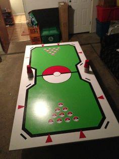 Pokemon stadium beer pong table via Reddit user mrfido