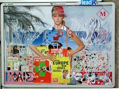 French urban artist,  Thom Thom, has been taking Parisian billboards and transforming them into art since 2000. He is inspired by the French artist Jacque Villeglé, well known for his technique of décollage, the opposite of collage, whereby parts are ripped away from posters. Also by the Lettrists, an experimental movement established in Paris in the '40's,  and the Situationists,  a revolutionary group based on Marxist ideas.