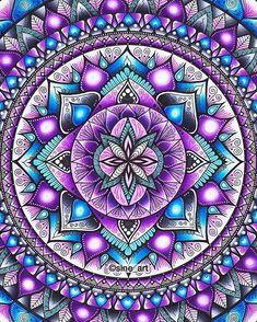 tattoo - mandala - art - design - line - henna - hand - back - sketch - doodle - girl - tat - tats - ink - inked - buddha - spirit - rose - symetric - etnic - inspired - design - sketch Mandala Draw, Mandalas Drawing, Mandala Painting, Mandala Coloring, Dot Painting, Purple Art, Teal And Pink, Mandala Design, Fractal Art