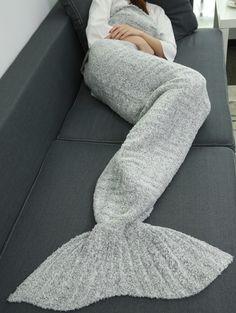 Super Soft Thicken Sleeping Bag Wrap Sofa Mermaid Blanket
