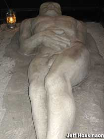 """""""the Cardiff Giant"""" hoax giant made from gypsum from Fort Dodge IA"""