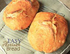Wonderful Artisan Bread Recipe!  Flour, salt, yeast + water~no kneading!!!