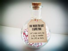 Anniversary Gifts, Gift of Love. 101 Ways to say I Love You Unique & Cute Gift for boyfriend, girlfriend, husband,wife...