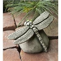 USA-Made Handcrafted Cast-Stone Dragonfly